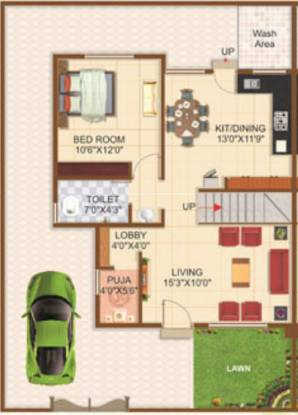 Vidarbha Hingna Town (3BHK+3T (1,330 sq ft) + Pooja Room Villa 1330 sq ft)