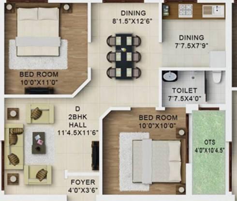 Kirthika Royal Enclave (2BHK+2T (690 sq ft) Apartment 690 sq ft)