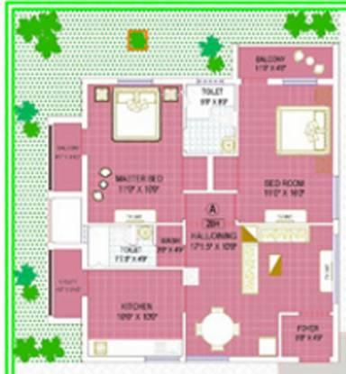Kirthika Temple View Apartment (2BHK+2T (1,274 sq ft) Apartment 1274 sq ft)