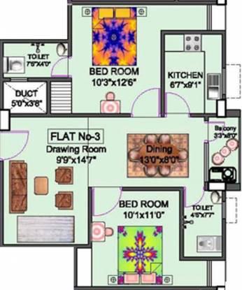 Niagaree Joha Complex (2BHK+2T (950 sq ft) Apartment 950 sq ft)