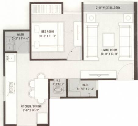 Shree Silicon Palm (1BHK+1T (711 sq ft) Apartment 711 sq ft)