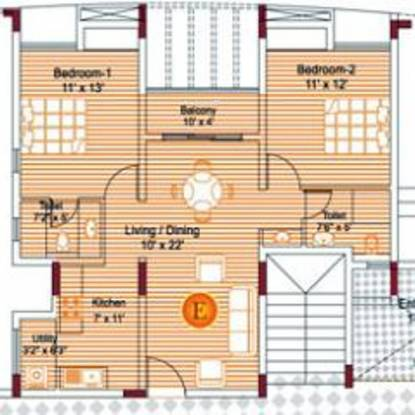 Appaswamy Orchards (2BHK+2T (1,080 sq ft) Apartment 1080 sq ft)
