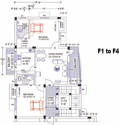 Abinaya Enclave (2BHK+2T (1,046 sq ft) Apartment 1046 sq ft)