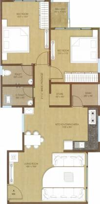 Kush Crystal Heights (2BHK+2T (1,235 sq ft) Apartment 1235 sq ft)