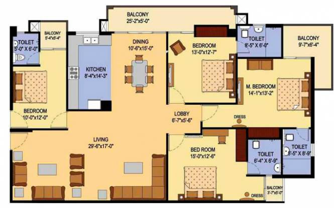 AGI Jalandhar Heights (3BHK+3T (1,880 sq ft) Apartment 1880 sq ft)