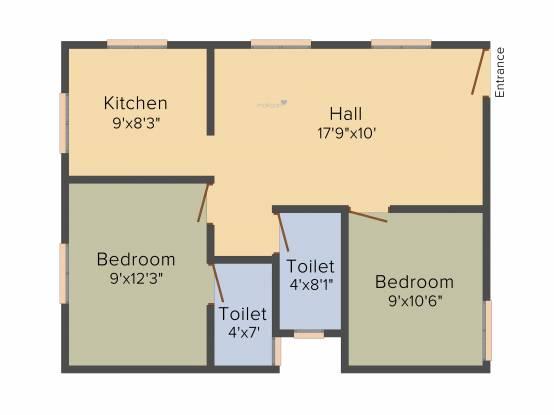 Gajhanana Vishagam Apartments (2BHK+2T (740 sq ft) Apartment 740 sq ft)