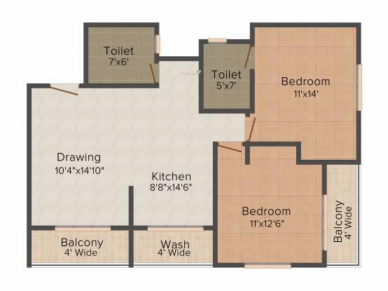 DCNPL Hills Vistaa (2BHK+2T (1,190 sq ft) Apartment 1190 sq ft)