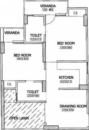 Gaursons 4th Avenue (2BHK+2T (860 sq ft) Apartment 860 sq ft)