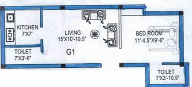 Inforich Prema Flat (1BHK+2T (631 sq ft) Apartment 631 sq ft)