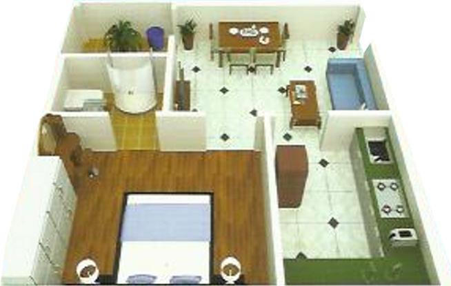 Pallavi Sky Lark Towers (1BHK+1T (550 sq ft) Apartment 550 sq ft)
