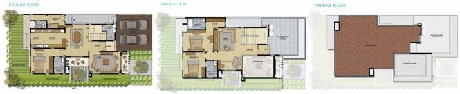 Brigade Palmgrove Villas (3BHK+3T (3,300 sq ft) + Study Room Villa 3300 sq ft)