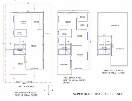 Metro Satellite City Phase I (3BHK+3T (1,810 sq ft) Villa 1810 sq ft)