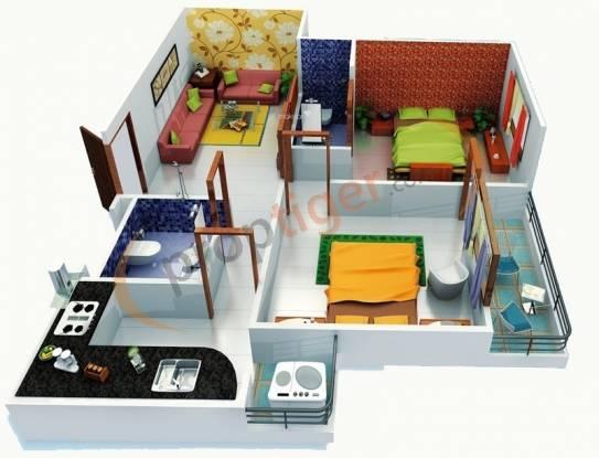 Dream City (1BHK+1T (570 sq ft) Apartment 570 sq ft)
