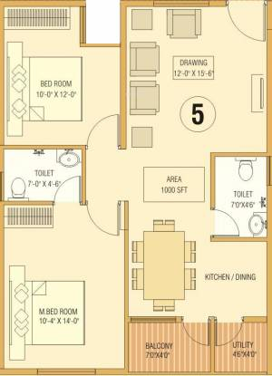 Dream Home Builders And Developers Delight (2BHK+2T (1,000 sq ft) Apartment 1000 sq ft)