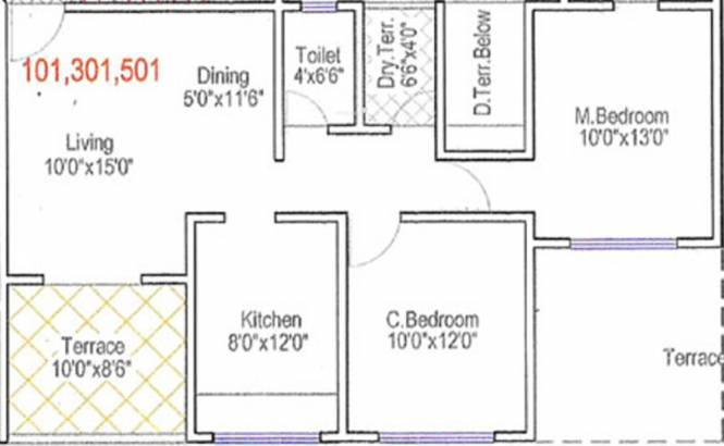 Dharmavat Sunder Sahawas Phase 2 (2BHK+1T (999 sq ft) Apartment 999 sq ft)