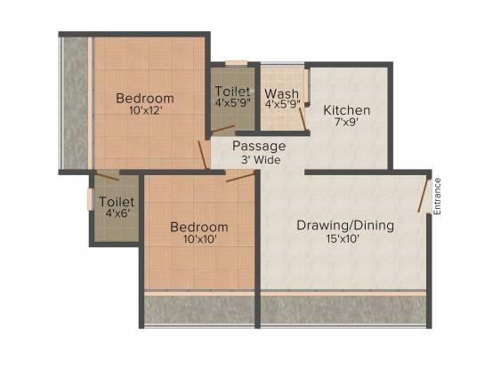 Aaryan Gloria (2BHK+2T (999 sq ft) Apartment 999 sq ft)