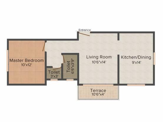 Bagad Murlidhar Avenue (1BHK+1T (690 sq ft) Apartment 690 sq ft)