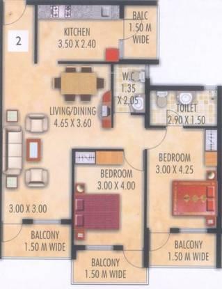 Devashri Gopika Vihar (2BHK+2T (1,127 sq ft) Apartment 1127 sq ft)