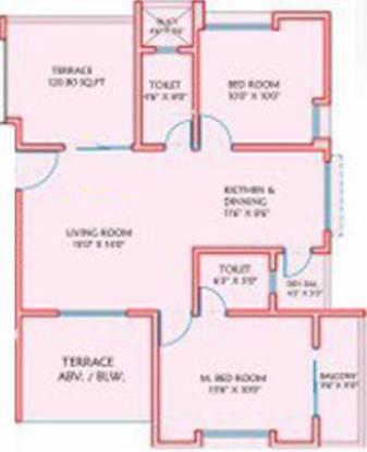 Austin Auroville (2BHK+2T (1,078 sq ft) Apartment 1078 sq ft)