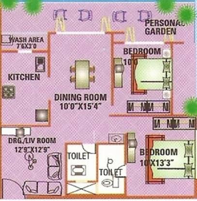 Kalyan Sampat Gardens (2BHK+2T (1,315 sq ft) Apartment 1315 sq ft)