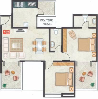Gemini Park Avenue (2BHK+2T (1,040 sq ft) Apartment 1040 sq ft)