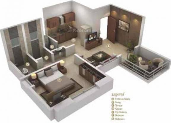 Maa Sai Dwarika (1BHK+1T (603 sq ft) Apartment 603 sq ft)