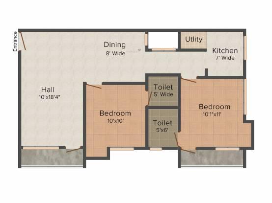 Himang Geetha (2BHK+2T (1,055 sq ft) Apartment 1055 sq ft)