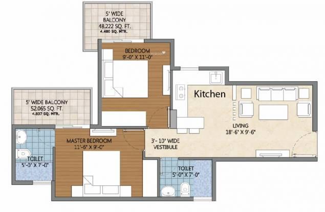 Pivotal Devaan (2BHK+2T (584 sq ft) Apartment 584 sq ft)