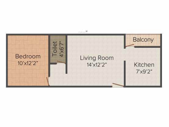 Anu Advika Flats (1BHK+1T (614 sq ft) Apartment 614 sq ft)