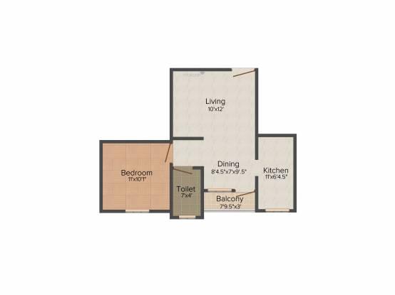 Anu Amirtha Varshni (1BHK+1T (606 sq ft) Apartment 606 sq ft)