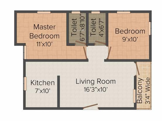 Anu Ratriya Flats (2BHK+2T (782 sq ft) Apartment 782 sq ft)