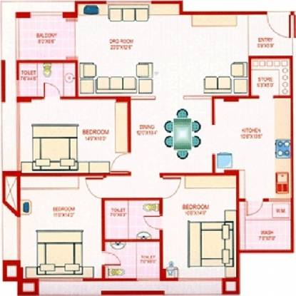 Deep Indraprasth 5 (3BHK+3T (2,115 sq ft) Apartment 2115 sq ft)