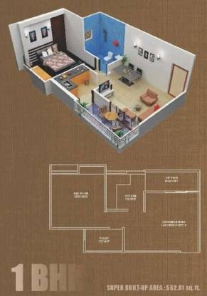 Imperial Heights (1BHK+1T (563 sq ft) Apartment 563 sq ft)