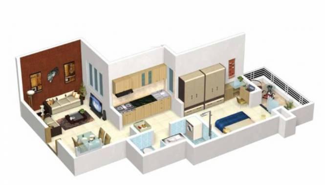 JKG Purvarang (1BHK+1T (575 sq ft) Apartment 575 sq ft)