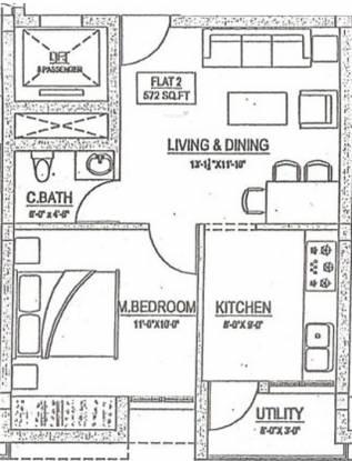 Rahul Lotus (1BHK+1T (572 sq ft) Apartment 572 sq ft)