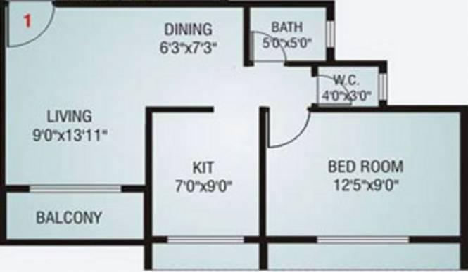 Neelsidhi Vinayak Complex (1BHK+1T (560 sq ft) Apartment 560 sq ft)