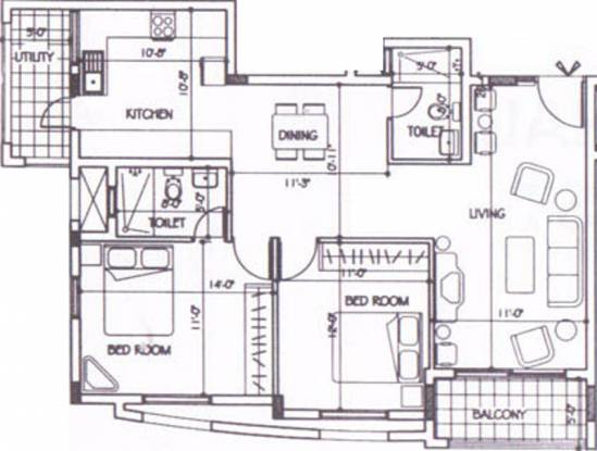 Vishal Nest (2BHK+2T (1,348 sq ft) Apartment 1348 sq ft)