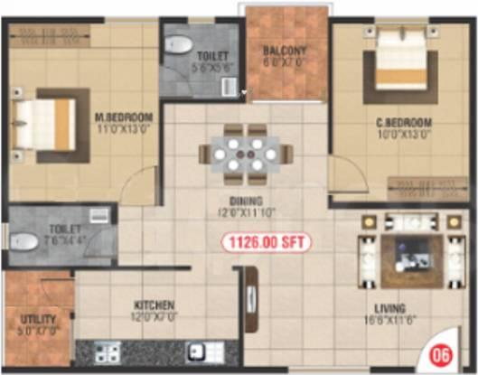 Neni Gagan Lake View (2BHK+2T (1,126 sq ft) Apartment 1126 sq ft)