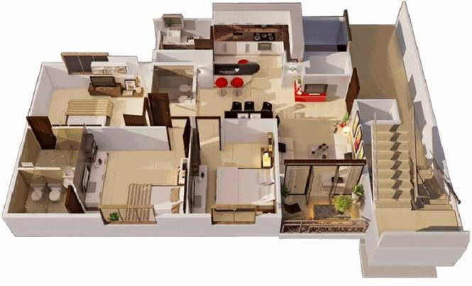 Galaxy Orchid Woods (3BHK+2T (1,488 sq ft) Apartment 1488 sq ft)