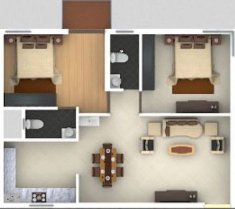 Manani Meadows (2BHK+2T (1,150 sq ft) + Servant Room Apartment 1150 sq ft)