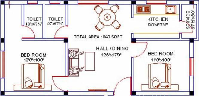 VG Madambakkam Flats (2BHK+2T (840 sq ft) Apartment 840 sq ft)