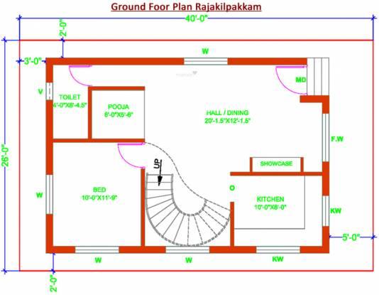Revathy Rajakilpakkam (3BHK+3T (1,650 sq ft) + Pooja Room Villa 1650 sq ft)