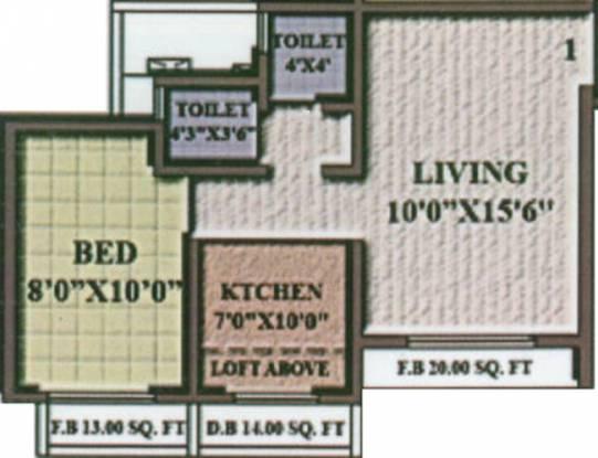 Aura Casa Vista (1BHK+2T (615 sq ft) Apartment 615 sq ft)