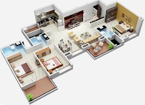 BramhaCorp Suncity (3BHK+3T (1,600 sq ft) Apartment 1600 sq ft)