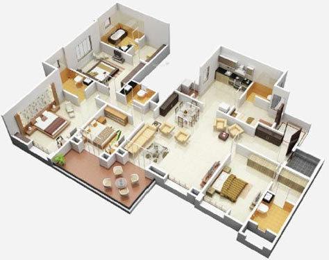 BramhaCorp Suncity (5BHK+5T (2,881 sq ft) Apartment 2881 sq ft)