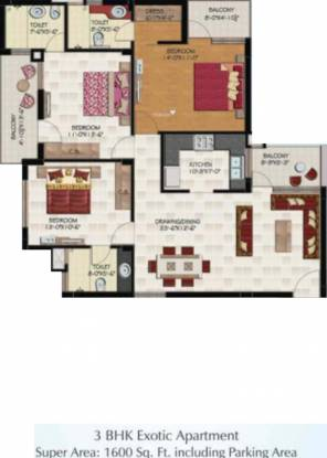 Hollywood Heights (3BHK+3T (1,600 sq ft) Apartment 1600 sq ft)