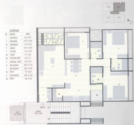 Nanji Aman (3BHK+3T (1,665 sq ft) Apartment 1665 sq ft)