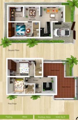 Sree Daksha Vhridhaa Villa (3BHK+3T (1,640 sq ft) Villa 1640 sq ft)
