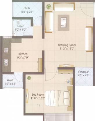 Eminent Ozone Life Style (1BHK+2T (600 sq ft) Apartment 600 sq ft)