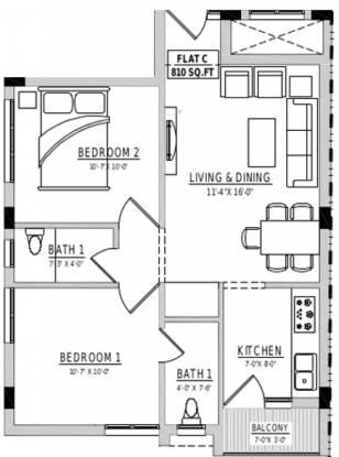 Rahul Agasthiya (2BHK+2T (810 sq ft) Apartment 810 sq ft)